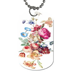 Fleur Vintage Floral Painting Dog Tag (two Sides) by Celenk