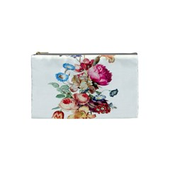 Fleur Vintage Floral Painting Cosmetic Bag (small)  by Celenk