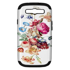 Fleur Vintage Floral Painting Samsung Galaxy S Iii Hardshell Case (pc+silicone) by Celenk