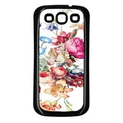 Fleur Vintage Floral Painting Samsung Galaxy S3 Back Case (black) by Celenk
