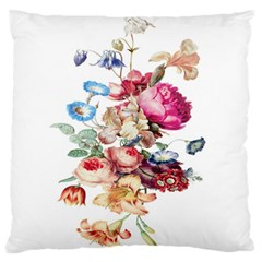 Fleur Vintage Floral Painting Standard Flano Cushion Case (two Sides) by Celenk