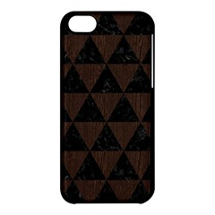 Triangle3 Black Marble & Dark Brown Wood Apple Iphone 5c Hardshell Case by trendistuff