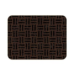 Woven1 Black Marble & Dark Brown Wood Double Sided Flano Blanket (mini)  by trendistuff
