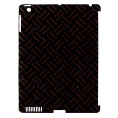 Woven2 Black Marble & Dark Brown Wood (r) Apple Ipad 3/4 Hardshell Case (compatible With Smart Cover) by trendistuff