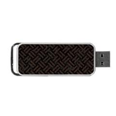 Woven2 Black Marble & Dark Brown Wood (r) Portable Usb Flash (one Side) by trendistuff