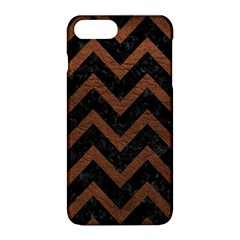 Chevron9 Black Marble & Dull Brown Leather (r) Apple Iphone 8 Plus Hardshell Case