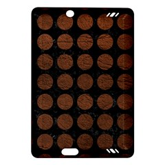 Circles1 Black Marble & Dull Brown Leather (r) Amazon Kindle Fire Hd (2013) Hardshell Case by trendistuff