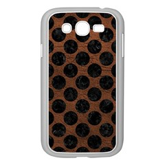 Circles2 Black Marble & Dull Brown Leather Samsung Galaxy Grand Duos I9082 Case (white) by trendistuff