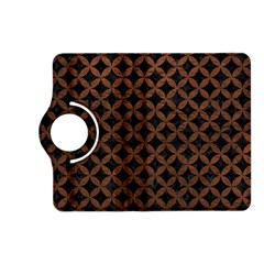 Circles3 Black Marble & Dull Brown Leather (r) Kindle Fire Hd (2013) Flip 360 Case by trendistuff
