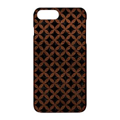 Circles3 Black Marble & Dull Brown Leather (r) Apple Iphone 8 Plus Hardshell Case