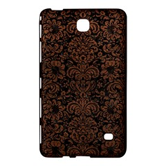 Damask2 Black Marble & Dull Brown Leather (r) Samsung Galaxy Tab 4 (7 ) Hardshell Case  by trendistuff