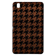 Houndstooth1 Black Marble & Dull Brown Leather Samsung Galaxy Tab Pro 8 4 Hardshell Case by trendistuff