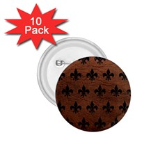 Royal1 Black Marble & Dull Brown Leather (r) 1 75  Buttons (10 Pack) by trendistuff