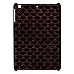 Scales3 Black Marble & Dull Brown Leather (r) Apple Ipad Mini Hardshell Case by trendistuff