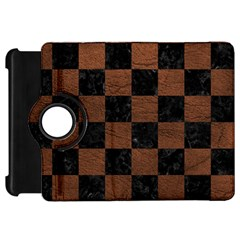 Square1 Black Marble & Dull Brown Leather Kindle Fire Hd 7  by trendistuff