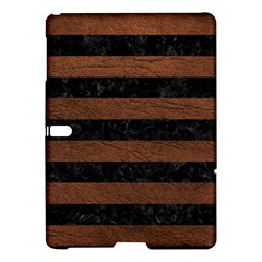 Stripes2 Black Marble & Dull Brown Leather Samsung Galaxy Tab S (10 5 ) Hardshell Case  by trendistuff