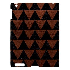 Triangle2 Black Marble & Dull Brown Leather Apple Ipad 3/4 Hardshell Case by trendistuff