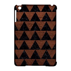 Triangle2 Black Marble & Dull Brown Leather Apple Ipad Mini Hardshell Case (compatible With Smart Cover) by trendistuff