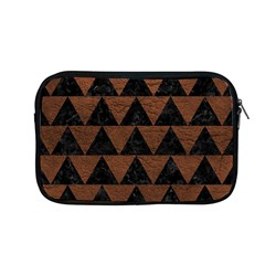 Triangle2 Black Marble & Dull Brown Leather Apple Macbook Pro 13  Zipper Case by trendistuff