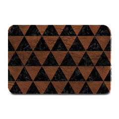 Triangle3 Black Marble & Dull Brown Leather Plate Mats by trendistuff