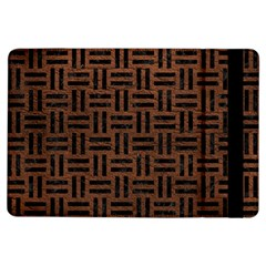 Woven1 Black Marble & Dull Brown Leather Ipad Air Flip by trendistuff