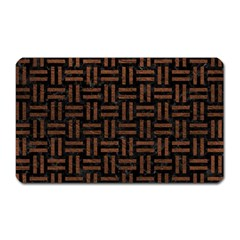 Woven1 Black Marble & Dull Brown Leather (r) Magnet (rectangular) by trendistuff