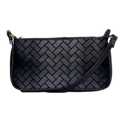 Brick2 Black Marble & Gray Brushed Metal Shoulder Clutch Bags by trendistuff