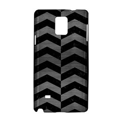 Chevron2 Black Marble & Gray Brushed Metal Samsung Galaxy Note 4 Hardshell Case by trendistuff