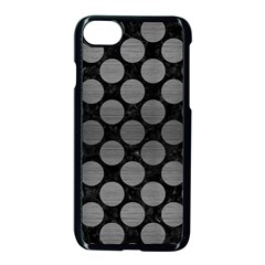 Circles2 Black Marble & Gray Brushed Metal (r) Apple Iphone 7 Seamless Case (black) by trendistuff