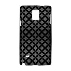 Circles3 Black Marble & Gray Brushed Metal Samsung Galaxy Note 4 Hardshell Case by trendistuff