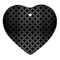 Circles3 Black Marble & Gray Brushed Metal (r) Ornament (heart) by trendistuff