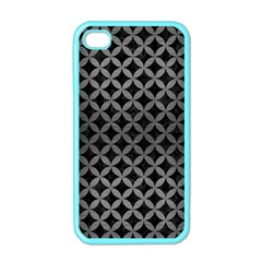 Circles3 Black Marble & Gray Brushed Metal (r) Apple Iphone 4 Case (color) by trendistuff