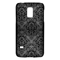 Damask1 Black Marble & Gray Brushed Metal Galaxy S5 Mini by trendistuff