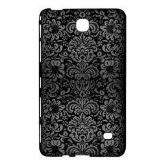 Damask2 Black Marble & Gray Brushed Metal (r) Samsung Galaxy Tab 4 (7 ) Hardshell Case  by trendistuff