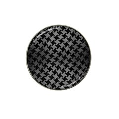 Houndstooth2 Black Marble & Gray Brushed Metal Hat Clip Ball Marker (10 Pack) by trendistuff