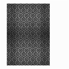 Hexagon1 Black Marble & Gray Brushed Metal Small Garden Flag (two Sides) by trendistuff