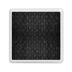 Hexagon1 Black Marble & Gray Brushed Metal (r) Memory Card Reader (square)  by trendistuff