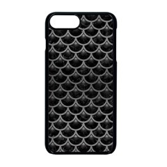 Scales3 Black Marble & Gray Brushed Metal (r) Apple Iphone 8 Plus Seamless Case (black)