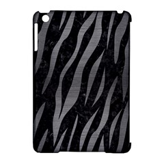 Skin3 Black Marble & Gray Brushed Metal (r) Apple Ipad Mini Hardshell Case (compatible With Smart Cover) by trendistuff