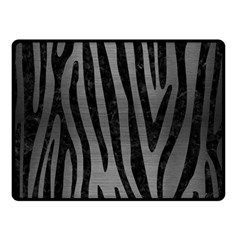 Skin4 Black Marble & Gray Brushed Metal (r) Double Sided Fleece Blanket (small)  by trendistuff