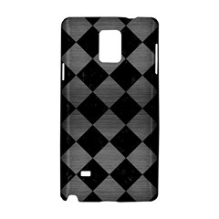 Square2 Black Marble & Gray Brushed Metal Samsung Galaxy Note 4 Hardshell Case by trendistuff