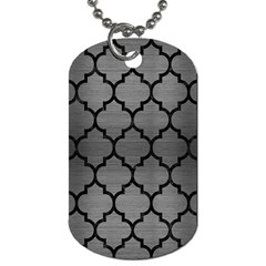 Tile1 Black Marble & Gray Brushed Metal Dog Tag (one Side) by trendistuff
