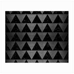 Triangle2 Black Marble & Gray Brushed Metal Small Glasses Cloth (2 Side) by trendistuff