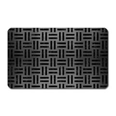 Woven1 Black Marble & Gray Brushed Metal Magnet (rectangular) by trendistuff