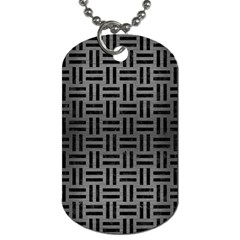 Woven1 Black Marble & Gray Brushed Metal Dog Tag (one Side) by trendistuff