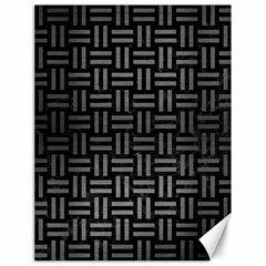 Woven1 Black Marble & Gray Brushed Metal (r) Canvas 18  X 24   by trendistuff
