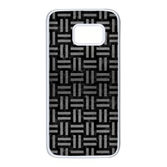 Woven1 Black Marble & Gray Brushed Metal (r) Samsung Galaxy S7 White Seamless Case by trendistuff