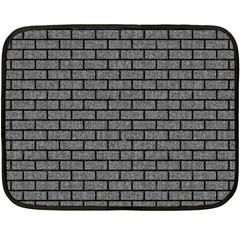 Brick1 Black Marble & Gray Denim Fleece Blanket (mini) by trendistuff