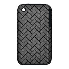 Brick2 Black Marble & Gray Denim Iphone 3s/3gs by trendistuff