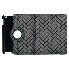 Brick2 Black Marble & Gray Denim Apple Ipad 3/4 Flip 360 Case by trendistuff